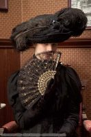 1910 Black Ostrich Feather Hat