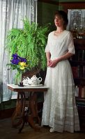 1910 White Cotton Dress
