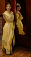 1915 Gold Silk Dress