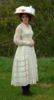 1916 White Chiffon Dress