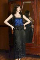 1920 Blue & Black Silk Dress