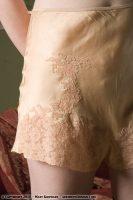 1930 Peach Silk Tap Pants