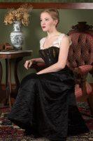 1880 Black Quilted Petticoat