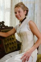 1905 Ivory Cotton Corset