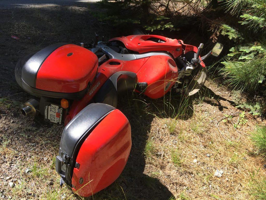 Triumph Sprint ST crash