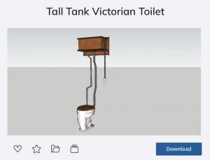 High-Tank Toilet