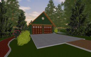 Mountain Cabin Garage
