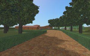 Tree-lined driveway