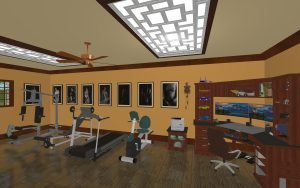 Home office & gym
