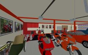 Motorcycles in garage